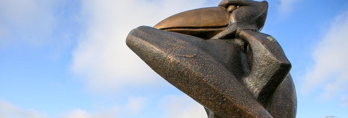 Bronze Jayhawk Statue